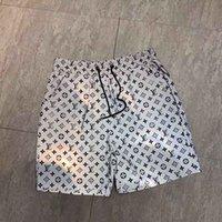 pantalones cortos para hombre relajados al por mayor-Diseñador para hombre Pantalones cortos de verano Pantalones de moda 4 colores letra impresa con cordón Shorts 2019 relajado Homme lujo pantalones de chándal
