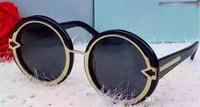 lunettes de soleil rondes arrow achat en gros de-Nouvelle lunettes de soleil de mode KW bague extérieure en métal cadre rond simple rétro lunettes de mode flèche anti-uv400 objectif de qualité supérieure avec boîte d'origine
