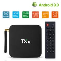 Android 9.0 TV Box TX6 4GB RAM 32GB Wifi Allwinner H6 Quad Core USD3.0 4K HD Support Google Player Tanix TX6