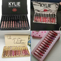 Wholesale kylie lip for sale - Group buy 2019 HOT kylie Lipgloss Lip Gloss Set kyshadow storm Matte Liquid Lipsticks Cosmetics fall pink brithday take me on