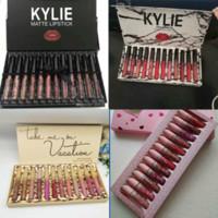 Wholesale kylie lipsticks online - 2019 HOT kylie Lipgloss Lip Gloss Set kyshadow storm Matte Liquid Lipsticks Cosmetics fall pink brithday take me on