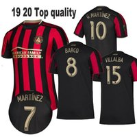 15 16 futbol gömlekleri toptan satış-2019 2020 Atlanta United FC Futbol Formalar 10 Almirón 16 MCCANN 15 VILLALBA 7 MARTINEZ GARZA Özel Ana Kırmızı Beyaz Siyah Futbol Gömlek