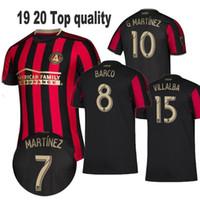 ingrosso pullover nero personalizzato di calcio-2019 2020 Atlanta United FC Maglia da calcio 10 ALMIRON 16 MCCANN 15 VILLALBA 7 MARTINEZ GARZA Maglia personalizzata da calcio rosso bianco nero