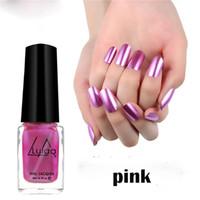 gel metálico para uñas al por mayor-6ML de Lula 5 colores de uñas metálica polaco Larga Duración Mate efecto de maquillaje de la astilla de esmalte de uñas de gel Espejo de belleza
