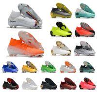 erkek ayakkabıları toptan satış-Sıcak Mercurial Superfly VI 360 Elite FG KJ 6 XII 12 CR7 Ronaldo Neymar Erkek Kadın Erkek Yüksek Futbol Ayakkabıları Futbol Çizmeler Cleats Boyutu ABD 3-11