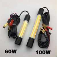 Wholesale underwater lights for boats for sale - Group buy 60W W V COB LED Underwater Night Fishing Boat Light Submersible Night Fishing Lures Lamp for Fishmen