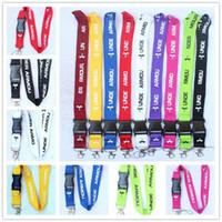 okul boynu takımı toptan satış-9 Renkler UA Anahtarlık İpi Polyester Telefon Halat Askı Okul Charm Kordon Kement Klip Anti-kayıp Boyunluklar Anahtarlık Erkek Kadın Çocuk Hediyeler Yeni