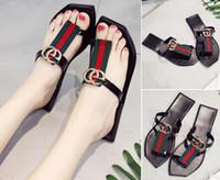 sandalias de goma para mujer al por mayor-gggbrand sandalias para mujer tamaño grande 35-42 chanclas sandalias con suela de goma con correa de goma web moda para mujer flip flop de interior