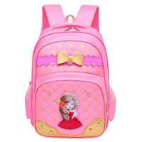 mochilas escolares gratuitas al por mayor-Cool Baby 2018 Mochilas escolares para niñas Mochila de nylon para niños Bolsa de libros primaria Paquete de libros escolares para niñas Envío gratis D296