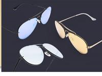 6b29dd8757 2019 New Top Quality des lunettes de soleil Vintage Aviator Sunglasses and  Pilot Men and Womens 3 Color Film Glasses UV400 Polarized Sun