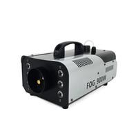 nebulizador al por mayor-SHEHDS 900W LED Fogger Máquina de humo Efectos atmosféricos LED 3IN1 Máquinas de niebla ligera con controlador para fiesta Live DJ Bar Etapa