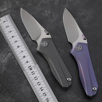 cuchillo de caza cerámico plegable al por mayor-Yon Xanadu cuchillo plegable de la lámina D2 cojinete cerámico cuchillo táctico de aleación TC4 titanio manejar herramientas al aire libre de caza de camping EDC