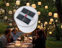 hochzeitslaternen im freien großhandel-Aufblasbare Solarleuchten Runde wasserdichte LED Outdoor Camping Laterne für Hochzeit Event Party Supply Notfall tragbare Gras Lampe