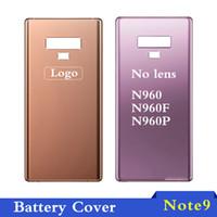 carcasa de batería trasera galaxy note al por mayor-Para Samsung Galaxy Note 9 N960 N960F Tapa trasera de la batería Puerta Caja trasera Caja Reemplazo nota9