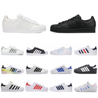 Wholesale stars for sale - Group buy 2019 Cheap Super Star White Hologram Iridescent Junior Men Superstars s sneakers Pride Womens Mens Trainers Superstar Casual Shoes