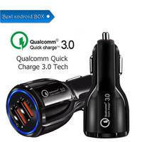 cep telefonları için araba beşiği toptan satış-Op Kalite QC 3.0 6.2A Turbo Çift USB Araç Şarj QC3.0 Cep Telefonu Şarj Cradle Tasarım