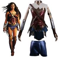Wholesale wonder woman movie costume online - 2017 Batman v Superman Dawn of Justice League Wonder Woman Costume Cosplay Woman Batman v Superman Dawn of Justice League Wonder