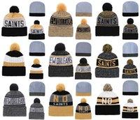 en iyi örme şapkalar toptan satış-Sıcak Satış New Orleans Azizler İyi Kalite Dikişli Örgü Şapkalar Tüm Ekipleri Karışık kış Örme Caps
