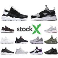 Stock X Nike Air huarache IV 4.0 IV 1.0 mens running shoes triple black white red silver huaraches men trainers women sports sneakers