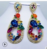 Wholesale knot earings for sale - Group buy high quality fashion diamond crystal silver women s cross earings rt