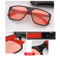 óculos de sol homens venda por atacado-Óculos de Sol dos homens da moda dos homens da mulher designer de Óculos De Sol Polarizados mercúrio Clássico Design All-Fit Espelho Óculos De Sol Com Caixa De Marca gafas CE