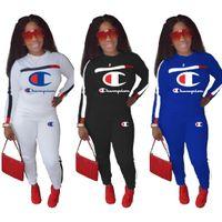 ingrosso le ghette delle donne liberano il trasporto-Spedizione gratuita Brand Designer donna inverno outfit jogger 2 Pezzo set felpa leggings sportswear mutanda con cappuccio tuta sportiva 5 colori