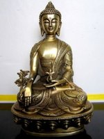 Wholesale tibetan buddhist art for sale - Group buy Chinese Vintage Tibetan Buddhist Medicine buddha bronze statue factory Arts outlets