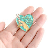 Wholesale hijab accessories china for sale - Group buy Cartoon Love Hand Scissors Brooches for Women Creative Enamel Pin Hijab Pin Jewelry Clothes Backpack Badge Bts Accessories