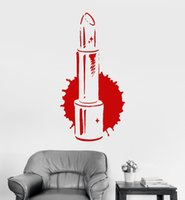 Wholesale salon decals for sale - Group buy Lipstick Beauty Salon Vinyl Wall Stickers Girl Room Fashion Style Sticker Customized Colors Available Wall Decal Mural