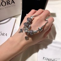 stainless steel screw venda por atacado-Designer de luxo jóias mulheres pulseiras Pandora charme pulseira de aço inoxidável parafuso de bracciali bracciali presente original