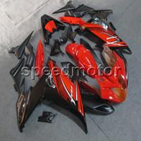 ingrosso yamaha fz6r abs-Carrozzerie moto ABS rosso regali + viti per Yamaha FZ6 FZ6R 2009-2010 pannelli moto Kit carrozzeria