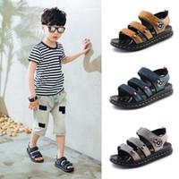ingrosso sandalo del bambino del cuoio della mucca-Sandali per bambini Scarpe per bambini Sandali per bambini in vera pelle maschio Sandali estivi per bambini
