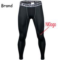 pantalon de compression pour hommes achat en gros de-Original 2019 hommes NK pro combat Athlétique compression maigre Basket-ball d'entraînement legging courir piste de sport pantalon serré fitness