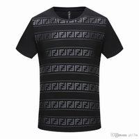 conception de vêtements de mode achat en gros de-Nouveau Design de marque été Street Apparel Européen Paris Fans Loisirs Mode Hommes Haute Qualité Coton Alphabet Imprimé T-shirt