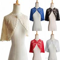 Wholesale shrugs resale online - High Quality Lace Wedding Bolero Jacket Sleeveless Sheer Wedding Wraps Shrugs Front Open Bridal Shrugs CPA1278