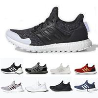 zapatillas de correr para hombre boost al por mayor-Adidas Ultra boost 4.0 Ultra boost 2019 Cloud White Black Zapatillas de running ultraboost de hombres Refract Clear Brown Zapatillas deportivas Primeknit 4.0  hombres mujeres 36-45