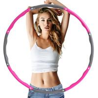 círculo de adelgazamiento al por mayor-Estilo de la cintura que adelgaza la aptitud aros de Hula cubierta extraíble portátil Pérdida de Peso Equipo Círculo de espuma de algodón caliente 16 5LJ Ww