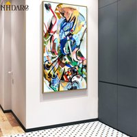 Wholesale artist home paintings for sale - Group buy Canvas Art Print Painting Poster Artist Wassily Kandinsky Geometric Abstract Wall Pictures For Living Room Home Decor Cuadros