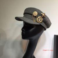ingrosso appartamenti di marca di moda-Newsboy piatto Caps Cap Women S Cappelli Baker Cappello femminile British Style Retro Designer Brand Primavera ottagonale moda cappelli 0917