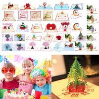 Wholesale pop up cards cake for sale - Group buy 3D Pop UP Cards Birthday Card for Girl Kids Wife Husband Birthday Cake Greeting Card Postcards Gifts with Envelope Stickers