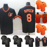 c5b51a7af Mens Baltimore 8 Cal Ripken Jr. Black Gold 100% Stitched Orioles Cal Ripken  Jr.Baseball Jerseys Cheap Fast Shipping S-XXXL