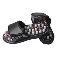 nokta masaj cihazı toptan satış-Acu-Point Terlik Accupressure Masaj Ayak Masajı Kadın Erkek WML99 için Flip Flop Sandalet