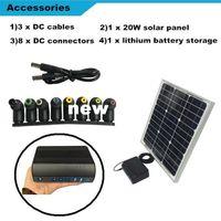 controlador solar 36v al por mayor-Freeshipping Centro de generador de energía solar portátil mini UPS 5V / 12V / 19V La batería de almacenamiento de energía solar Fuente de alimentación ininterrumpida