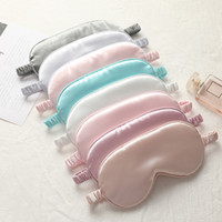 Silk Sleep Masks Rest Shading Eye Mask Padded Shade Cover Eyepatch Travel Relax Aid Blindfolds Eyemask