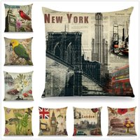 Wholesale spotted pillows for sale - Group buy Hot Fashiopn Scenic Spots Pillow Case Cushion Cover Home Party Bed Decoration Softs Gifts
