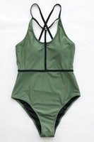 maiô verde do exército venda por atacado-2019 Do Exército Verde Swimwear para Mulheres Sexy Monokini Bodysuits Senhora Praia Swim Wear Maiôs Maillot De Bain Beachwear Swimsuit One Piece