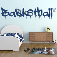 Wholesale frames for kids art for sale - Group buy Basketball Quote Sports Wall Sticker Basketball Logo and Ball frame Home Interior Decor Kids Boys Childrens Bedroom Mural