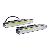 Wholesale daytime running lights for cars resale online - 2pcs Waterproof W K K COB LED Lights DRL Daytime Running Light Auto Lamp For Universal Car