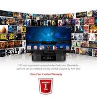 caixa de tv ram venda por atacado-Satxtrem TX3 Mini Android 7.1.2 Caixa de TV Smart TV H2.65 IPTV 4 K Set Top Box Leitor De Mídia Amlogic S905W 2G RAM / 16G ROM 2.4G WiFi