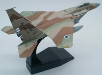 1 100 Scale Israel Air Force IAF F-15 Military Eagle Fighter Diecast Metal Plane Model Toy For Kids Gift Toys Collection Y200428